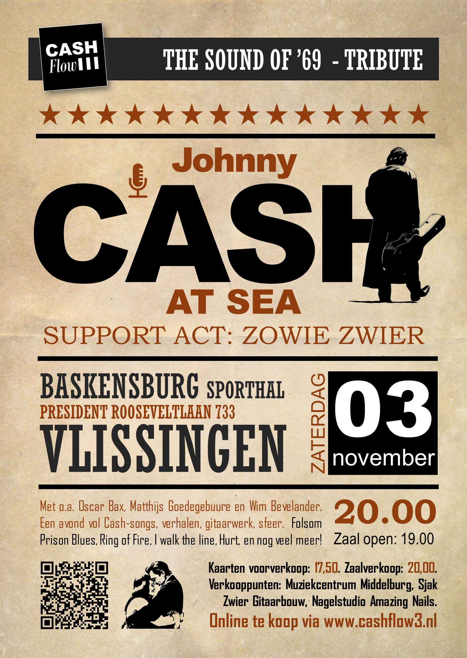 Johnny Cash at Sea Vlissingen 3 november Cashflow3